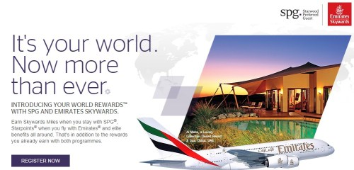 SPG Emirates Your World Rewards