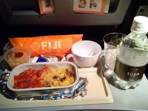 Fiji Airways economy meal