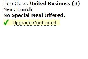 United Upgrade Confirmed