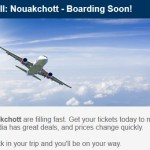 """Flights to Nouakchott are Filling Fast"" – Expedia Marketing Fail"