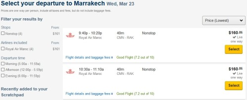 Royal Air Maroc Expedia