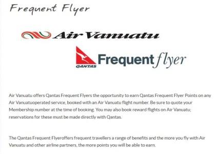 Air Vanuatu Qantas Frequent Flyer