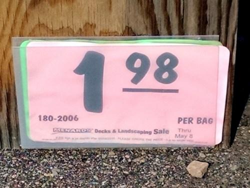 Menards 198 per bag