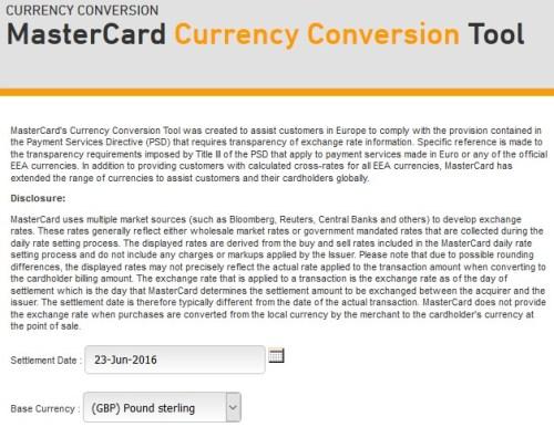MasterCard GBP