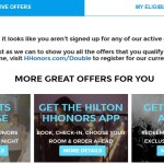 Hilton.com Now Has a Promo Central Page to See Registered and Eligible Promotions