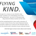 American 250k Mile Flying Kind Contest, Each Entry Gives 250 Miles to Charity
