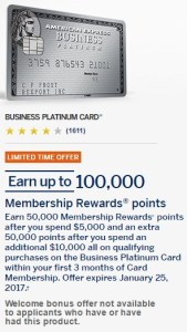 Amex Business Platinum 100k