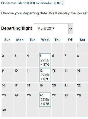 FJ CXI-HNL Availability April 2017