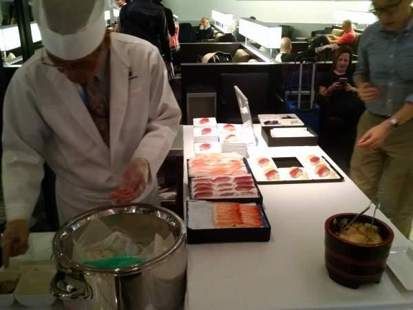 ANA Lounge NRT Sushi