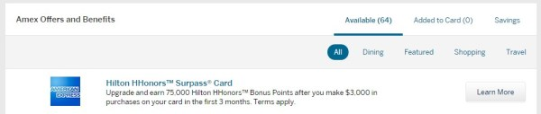 Amex Surpass 75k Amex Offers
