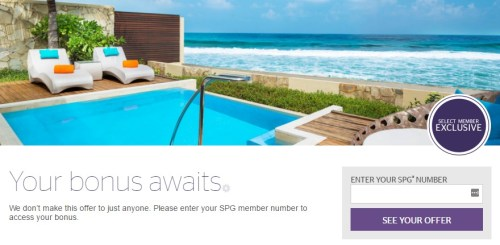 SPG Select Member Exclusive Q12017 Landing