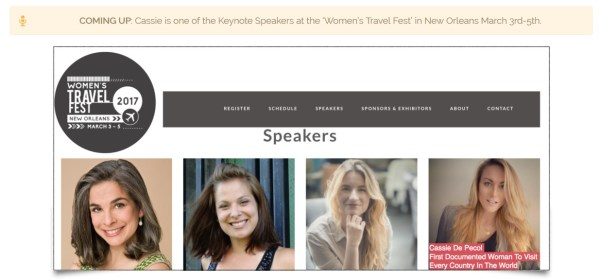 Women'S Travel Fest Speakers
