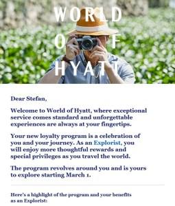 World of Hyatt Explorist