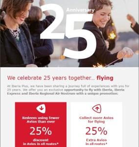 Iberia 25 Off Award Sale