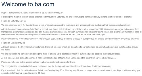 BA Meltdown May 2017