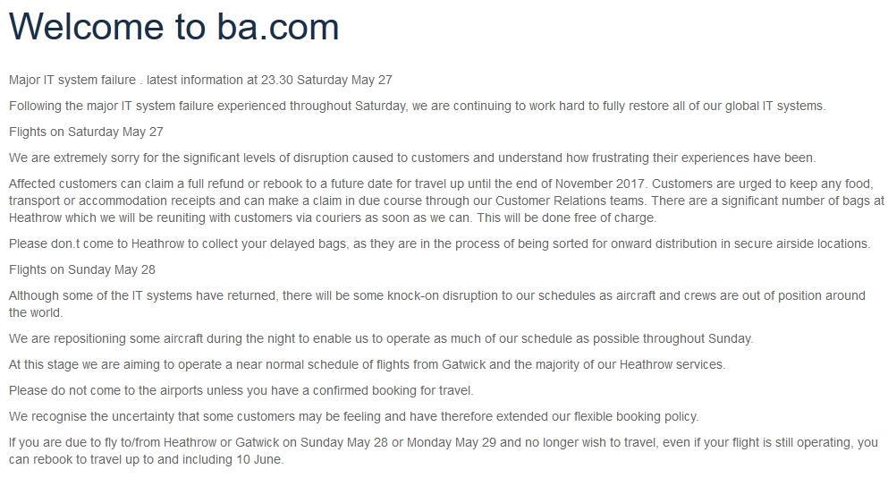 BA Meltdown May 2017