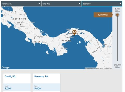 Copa ConnectMiles Panama City to David