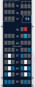 Delta Existing Reservation Seat Map