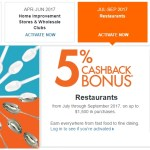 Discover Q3/Q4 2017 5% Categories Released: Restaurants, Amazon & More