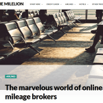Check Out this Exposé on Mileage Brokers, from a Blog You Should be Reading