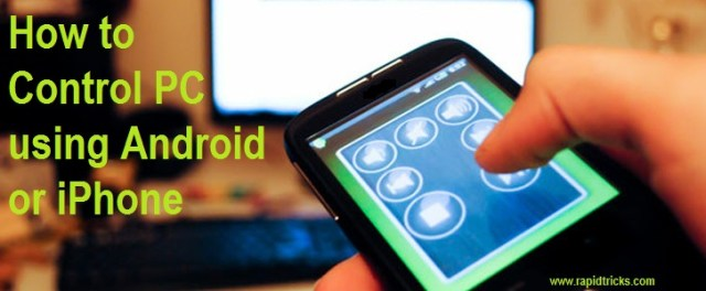 How to Control PC using android