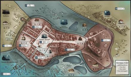 """Kacper Ryx i Król Żebraków"", mapa"