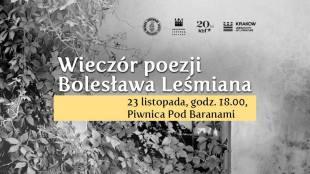 Wieczór poezji Bolesława Leśmiana