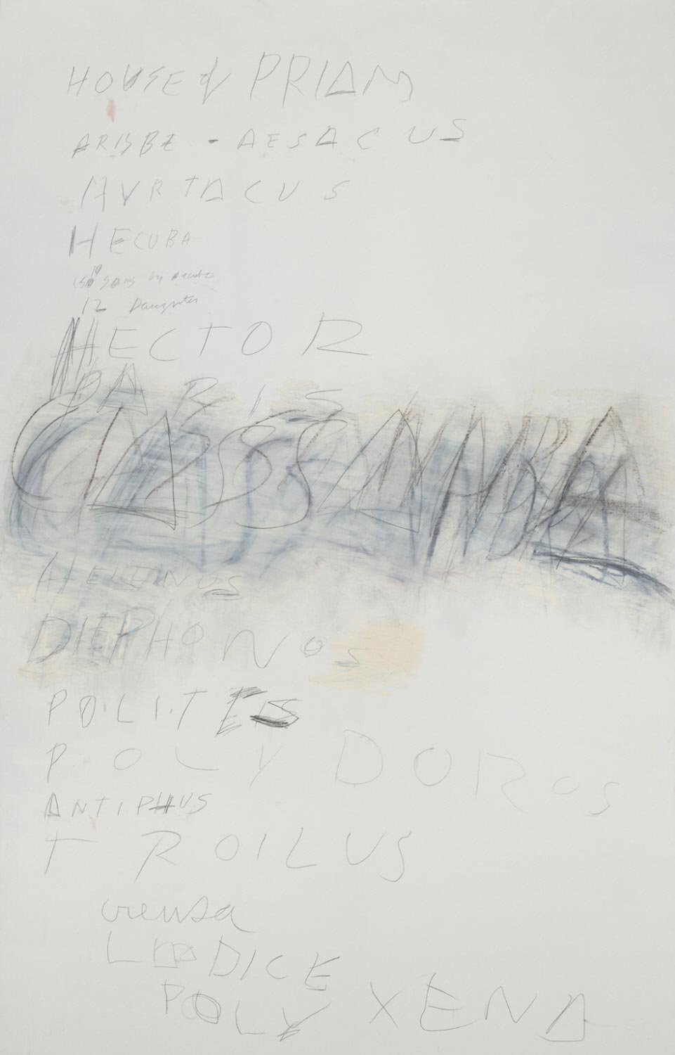 Cy Twombly, Fifty Days at Iliam: House of Priam
