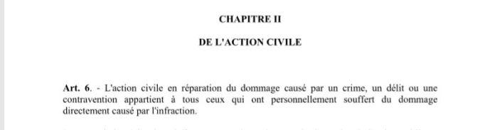 RANARISON Tsilavo doit prouver le préjudice individuel et personnel de l'associé pour bénéficier des intérêts civils de 1.500.000.000 ariary attribués par les juges du fond malgaches