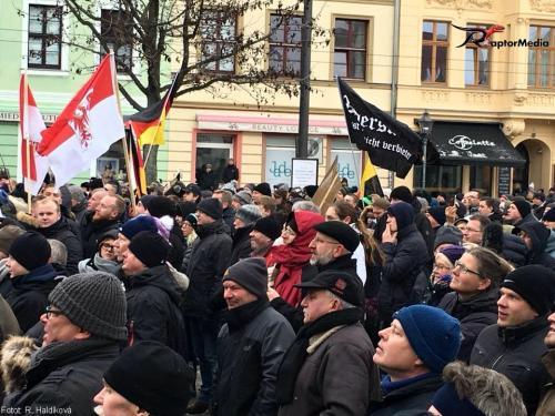 Demonstrace Chotěbuz 17. 3. 2018