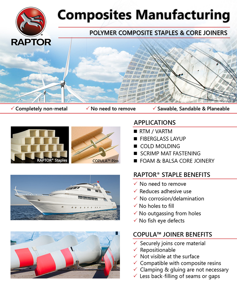 RAPTOR® Polymer Composite Nails & Staples Applications