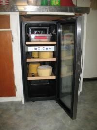 My cheese fridge. It's not big enough, unfortunately. We ...