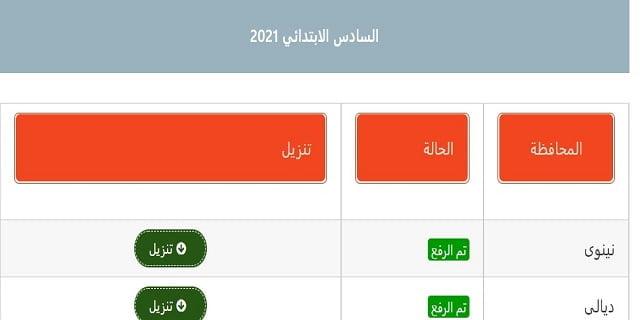 موقع نتائجنا .. نتائج العراق | نتائج السادس ابتدائي العراق 2021 | رابط نتائج الامتحانات 2021 الدور الاول