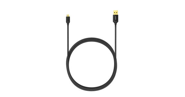 Nylon-Braided Micro USB Cable (6ft / 1.8m)
