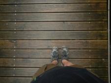 On my path.