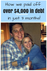 How we paid off over $4,000 in debt in just 3 months, and you can too!