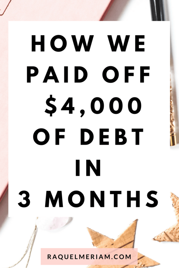 How we paid off over $4000 in debt in just 3 months. Read my full story, follow the steps and start paying off your debt today. #debt #repayments #savings #finances