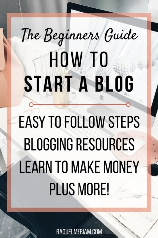 Want to start a blog but don't know where to start? Read this beginners guide with easy to follow steps, blogging resources and learn how to make money today. #blogging #beginner #startablog #makemoney #bloggingresources
