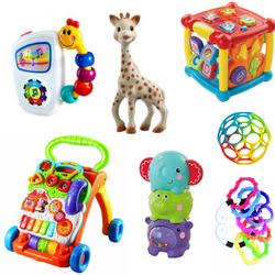 What are the best toys for newborns, 6 month olds to 1 year olds? I've compiled a list of toys that my little ones actually used all under $25.