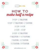 How-to-Make-Half-a-Recipe-Yellow-Bliss-Road