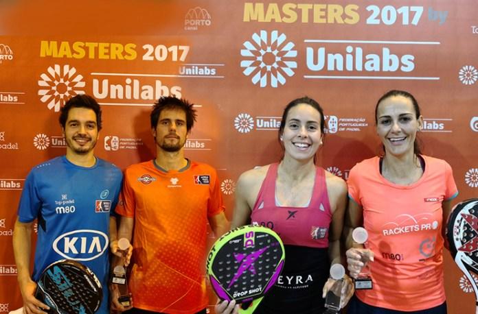 Diogo Rocha, Miguel Oliveira, Sofia Araújo e Kátia Rodrigues -- os campeões de M1 e F1 do Masters FPP 2017