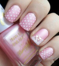Pink Nail Designs With Bows | www.imgkid.com - The Image ...