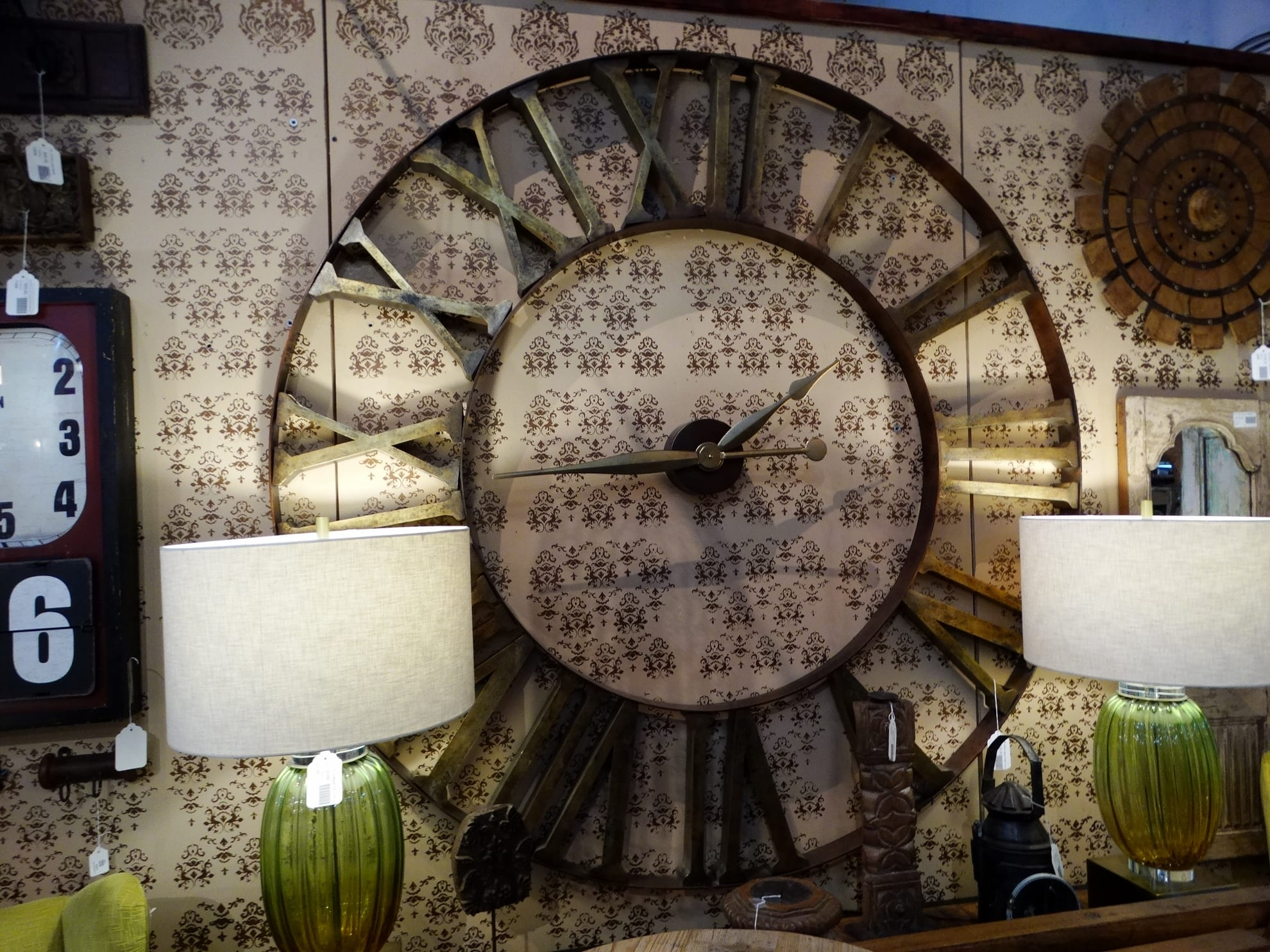 Extra Large Wall Clock Features Roman Numerals Perfect On