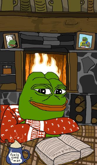 Comfy cozy Pepe