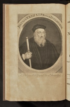 Frontispiece of the New Testament, Portrait of John Wyclif