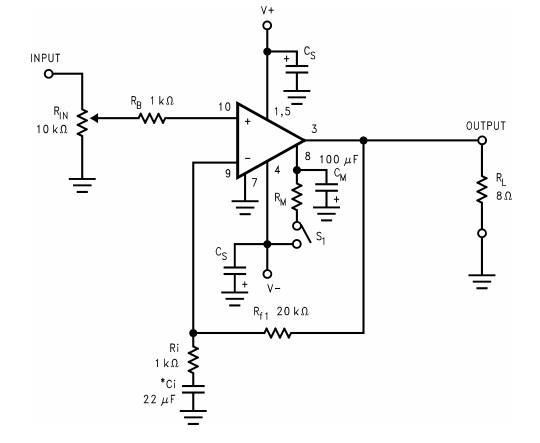 LM3886 High Performance. 68W Audio Power Amp w/ Mute