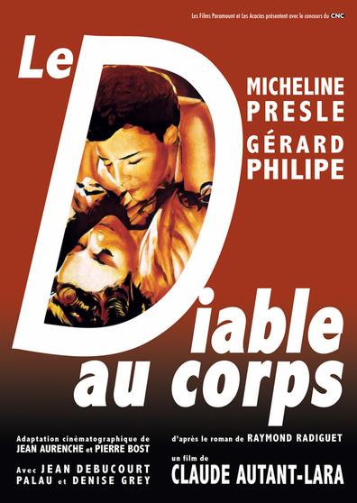 Le Diable Au Corps Film 1986 : diable, corps, Diable, Corps, Devil, Flesh, (1947), Claude, Autant-Lara,, Micheline, Presle,, Gérard, Philipe,, Denise, RareFilm