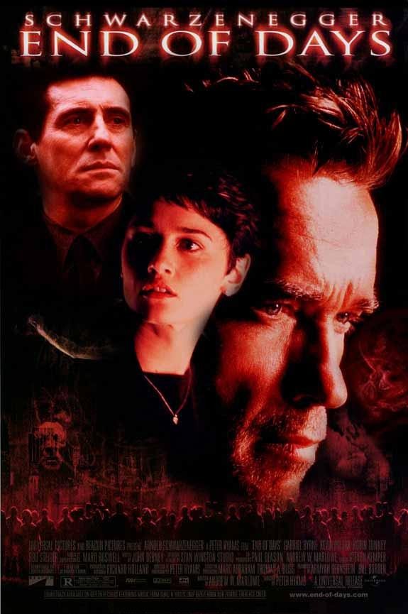 Film La Fin Des Temps : temps, Temps, (1999), Peter, Hyams,, Arnold, Schwarzenegger,, Gabriel, Byrne,, Robin, Tunney,, Action,, Fantasy,, Horror, RareFilm