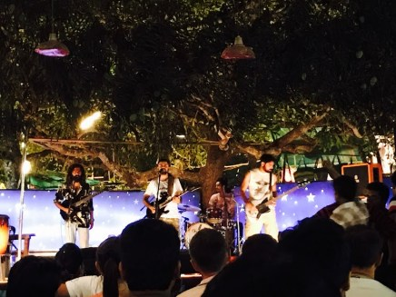 The local band Electric Pulse at Saturday Night Market Arpora