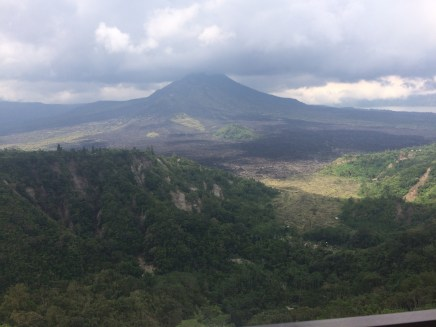 Lunch by the view of Mount Batur